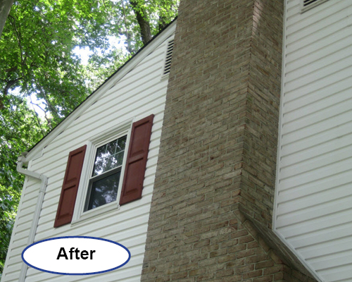 Power Washing soft wash siding cleaning Delaware after