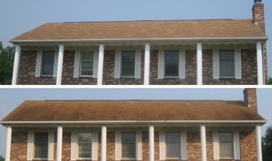 exterior roof cleaning soft washing