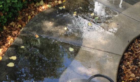 Professional sidewalk pressure washing