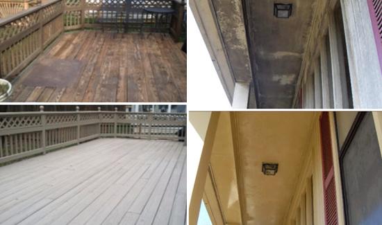 Wood Deck ceiling pressure washing delaware