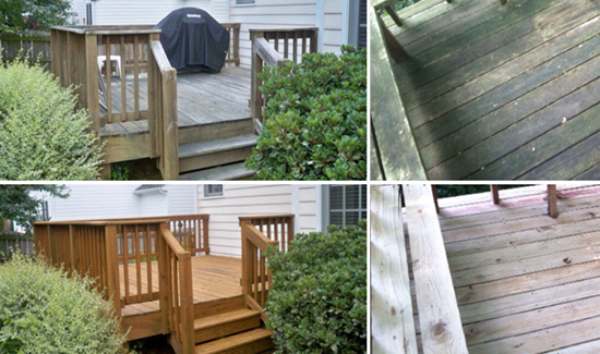 Wood Deck pressure washing delaware